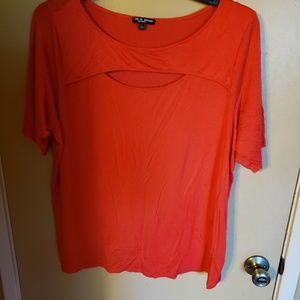 Size 2X Cable & Gauge orange keyhole t shirt